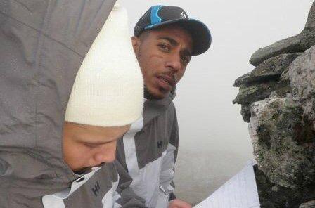 PÅ FJELLTUR: Said Bassam Chataya og Thomas Rene Olsen på fjelltur sammen i 2010.