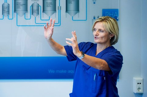 UNNTAKET: Fabrikksjefen ved Pharmaqs vaksinefabrikk på Skogmo er en av få kvinner i toppen av namdalsk næringsliv.