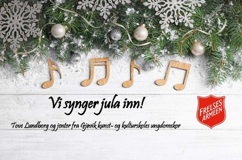 Julefred og glede - Bli med å synge jula inn hos frelsesarmeen i Ringevegen 8b søndag 22. desember kl.17.00.