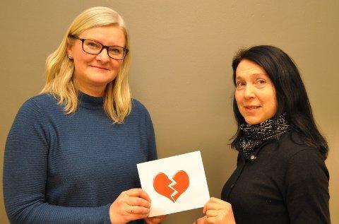 SORGEN DET IKKE SENDES BLOMSTER TIL: Diakon Hilde Kristin Gresbakken Jarlvang (f.v.) og Marit Alm skal lede en ny samtalegruppe om samlivsbrudd.