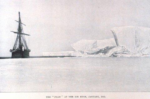 INSPIRASJON: «Fram», fotografert i januar 1912.
