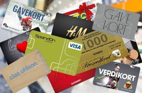 BLIR IKKE BRUKT: Mange glemmer å bruke gavekortet.