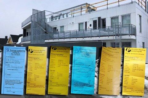 BØTER: Status er altså at flere beboere har mistet parkeringen sin, og Tromsø kommune har varslet at det vil påløpe bøter dersom de likevel benytter den.
