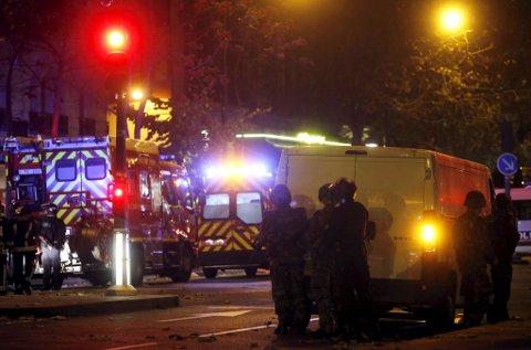 Dramatisk i Paris i natt