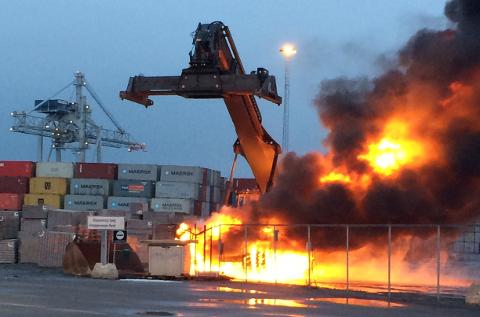 To branner: Truckbrannen på Revet i forrige uke, var det andre på bare to måneder. Nå er konklusjonen at den ikke var påsatt. Arkivfoto