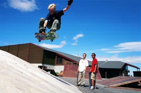 Ved Stavernshallen har Larvik Skateboardklubb egne bane med diverse ramper for rullebrettkjøring.