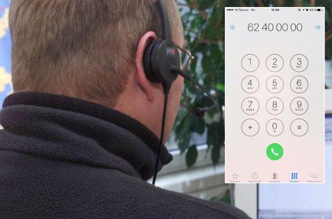 NORSKE NUMMER: Nå ringer de etter hvert så omtalte «Microsoft»-svindlerne fra norske telefonnummer tilhørende intetanende nordmenn og norske bedrifter. Tidligere har svindelen foregått fra utenlandske nummer. Telefonnummeret til Østlendingen har så langt vi kjenner til ikke blitt misbrukt til denne type svindel og brukes kun for illustrasjonens skyld. (Illustrasjonsfoto: Morten Holm, NTB scanpix)