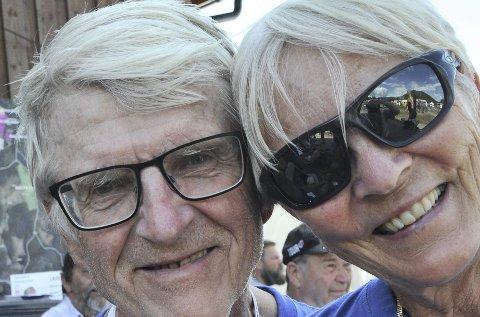 Koser seg: Inger og Tore Hartz opplever fine dager sammen på Evje.Foto: Freddie Øvergaard