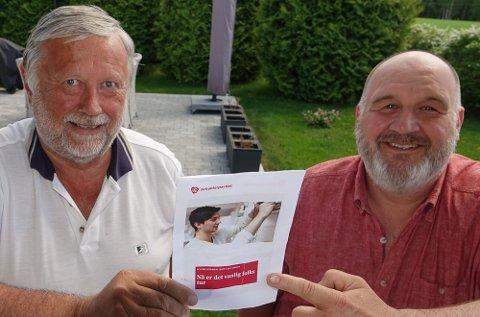 SKAL VISES: Partileder Kjetil Dammen, til venstre, og valgkampleder Rune Grenberg lover at Grue Ap skal være veldig synlig i valgkampen.