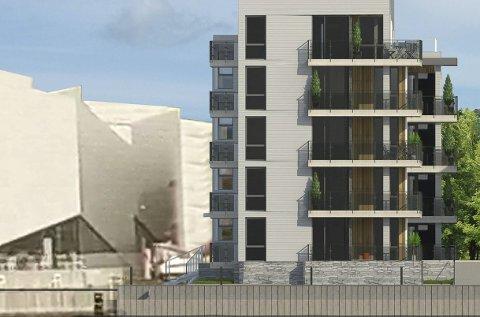 MUR: Solli mener blokka vil ødelegge for DuVerden med en høy langsgående «Berlinmur» i 5 etasjer.