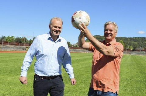 33 år siden: Per William Nilssen og Brede Halvorsen var tilbake på Kjølnes 33 år etter at Pors slo Odd for siste gang i en obligatorisk kamp.