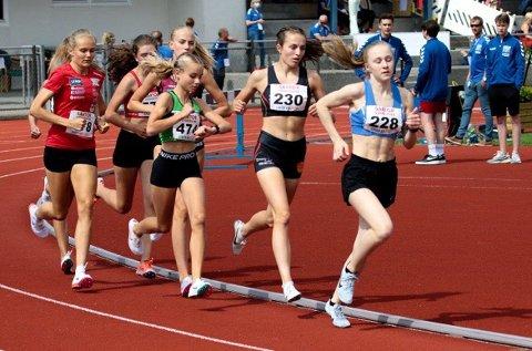Tre gode løp: Malin Søtorp Solberg (i grønt) gjorde det bra i sin første deltakelse i jr-NM.