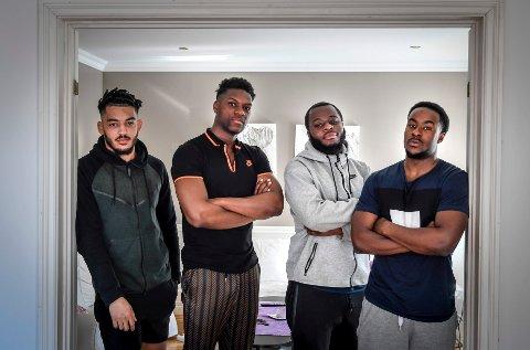 Alexandre Pakutu, Nathan Munda, Moïse Nsuanda og Evan Melo er klare for seriestart i den vanskelige mellomsesongen for Stålkameratene.
