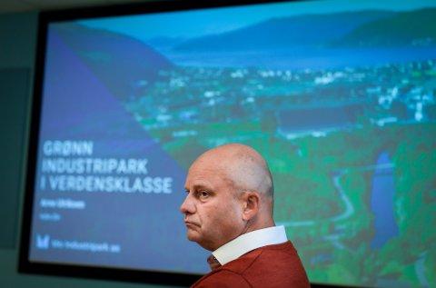 Arve Ulriksen. Bilde tatt i forbindelse med næringsminister Iselin Nybøs besøk tirsdag.