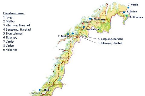 VOKSER I NORD: Her er AKAs eget kart over de nyeste eiendommene.