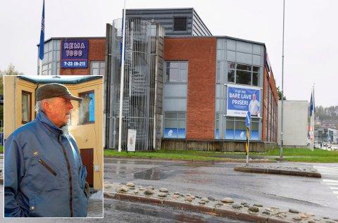 KONTRAKT GÅR UT: Leiekontrakten i Osloveien går ut neste år. Nå har Rema 1000 og gårdeier Anders Berg (innfelt) blitt uenige om hvilken leiepris som skal betales i framtiden.
