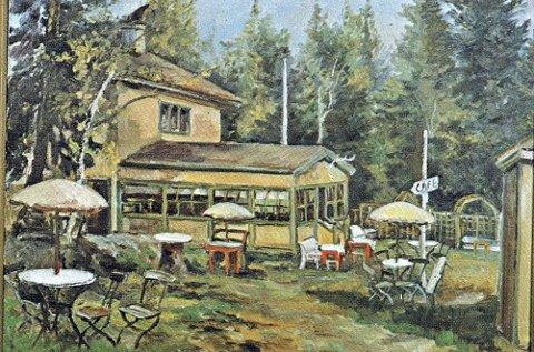 1928: Solvang kafé ble etablert i 1928, og var en sommeråpen kafé som lå der Morten's kro ligger i dag. Foto: Morten's kro