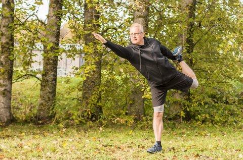 Øyvind Sjødin har trent yoga de siste tre årene. Med de rekke gode mentale- og fysiske effektene gleder han seg over å fortsette med treningsformen. Alle foto: Marte Nordahl
