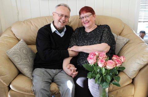 LOVE-STORY I VÅLER: Øivind Lunde (66) og Astrid Magnussen (65) har funnet kjærligheten.