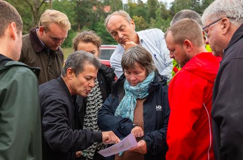 BEFARING: Planutvalget i Hurum var på befaring i fjor høst og valgte å overlate behandlingen av planene til Asker kommune.