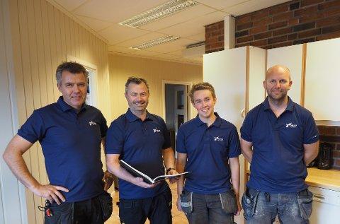NORGESHUS SANDE: Fra venstre Ole Kristian Skjørdal, Kjetil Simensen, Håvard Bække og Leif Kvernstuen.