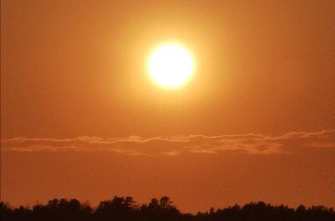 HETEBØLGE: I Melsomvik var høyeste målte temperatur 25,6 grader onsdag. I områdene litt inn fra kysten, ved Andebu for eksempel, var det opp mot 30 grader.
