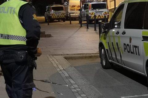 Det var mye politi i sentrum grunnet denne hendelsen.
