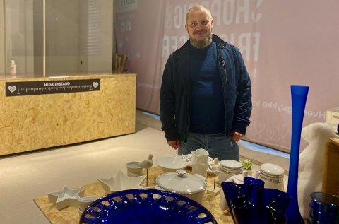 Jan Egil Gjerseth er en av initiativtakerne bak den nye butikken på Amfi Vågen.