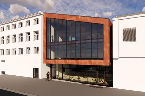 Det er arkitektkontoret Dark som har jobbet med fasadeendringene mot Elvegata.