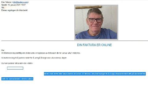 PASS PÅ: Øistein Bjørvik ber folk være obs på at svindelere som utgir seg for å være Telenor, sender ut eposter der de krever pnger.