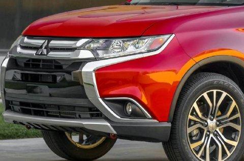 Mitsubishi Outlander får en oppgradering, da ser fronten slik ut.