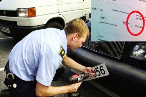 43.000 bileiere har ennå ikke betalt årsavgiften på bil for 2015. Nå lever de farlig i trafikken.