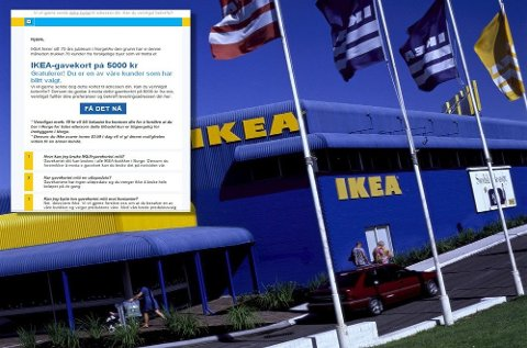 Ikea oppforder deg til å slette denne e-posten hvis den havner i innboksen din.