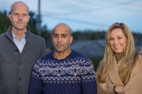 Azfar Majothi fikk hjelp av Hallgeir Kvadsheim og Cecilie Lynum i «Luksusfellen».