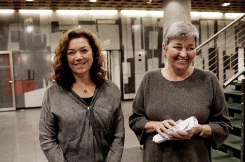 NHO-direktør Kristin Skogen Lund (t.v.) og LO-leder Gerd Kristiansen er glade for enigheten i årets lønnsoppgjør.