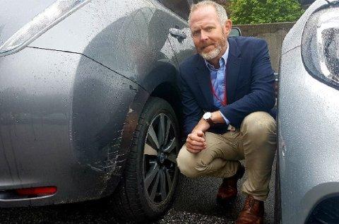 Økningen i antall parkeringsskader fra 2014 til i dag er på 36 prosent, sier Svein-Arne Kausland. Han er skadedirektør i Tryg forsikring.