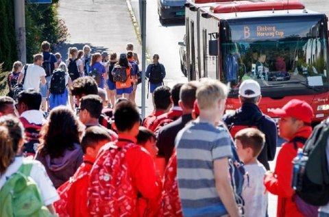 Det forventes mange reisende med buss, T-bane og trikk mot Ekebergsletta i uke 31. Det oppfordres derfor til at du beregner god tid om du skal reise denne strekningen.