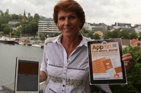 Grethe Wauer Eriksen har hatt suksess med sin BobilApp. De siste somrene har den ligget stabilt blant de mest solgte reiseappene i AppStore.