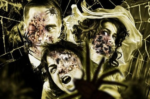 Kanskje du ikke skal ha med deg mora di på Spökhotellet Gasten, som i år er rammet av en edderkoppinvasjon.