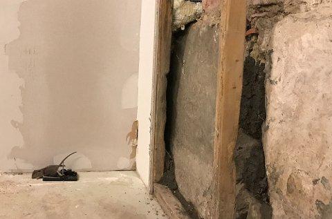 I dette huset måtte veggen rives for å tette mot rotter.
