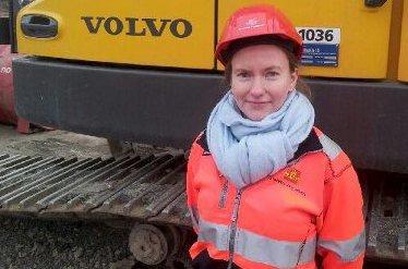 BYGGELEDER: Renate Greager er veivesenets byggeleder når fire kilometer av fylkesvei 123 skal utbedres i Trøgstad.ARKIVFOTO