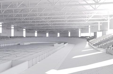 Leiv Nes Arkitekter AS har laget skisse- og mulighetsstudien over Sola arena. Skissene viser en sykkelrundbane på 250 meter, store flerbruksbaner og plass til 2500 publikummere.