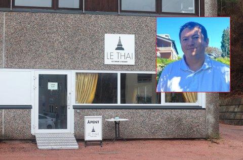 Andreas Muri, styreleder ved Le Thai i Svelvik, forteller at de har drevet sammenhengende med tap siden september.