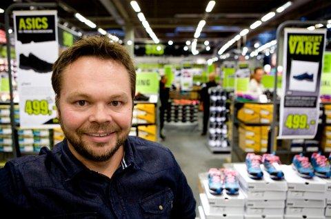 DOWN TOWN: Kjededirektør Anders Fjeld i XXL bekrefter at de åpner butikken i Porsgrunn i løpet av kort tid.