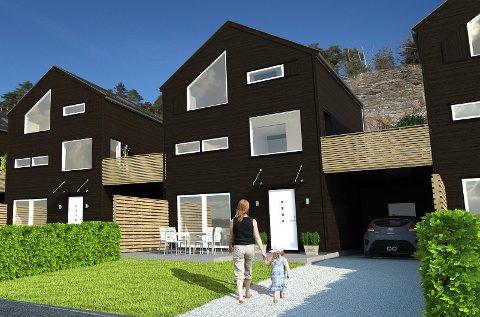 BYGGER ENEBOLIGER: Porsgrunn, Bamble og Borgestad boligbyggelag legger nå ut ni eneboliger på Løvsjøtoppen, i et nytt boligprosjekt de har døpt Vestalia.