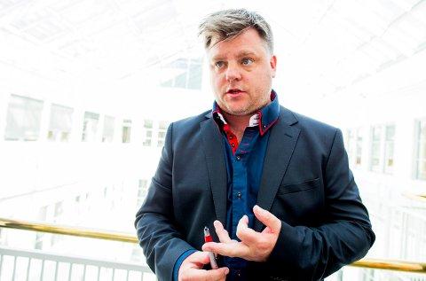 OM FRAMTIDA: - Mer samarbeid og involveringen vil være nødvendig i framtida, er budskapet til Richard Aune i Norsk journalistlag i NRK.
