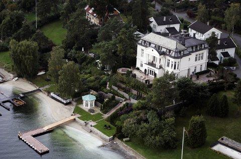 Illustrasjonsfoto: Flyfoto av huset til næringslivsleder Petter Stordalen i Christian Benneches vei 6 på Bygdøy. (foto fra 2005). Foto: Cornelius Poppe (NTB scanpix)