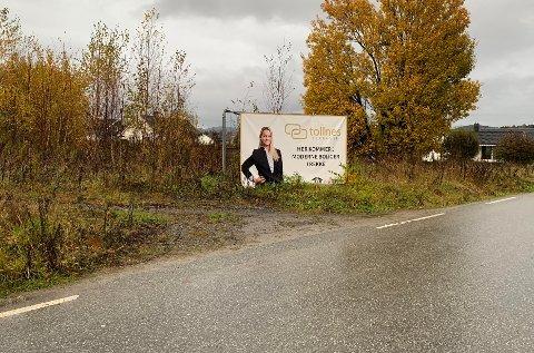 Det er denne plakaten som har fått naboer til å reagere: Foto: Stian Kittilsen
