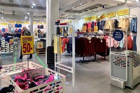 BEHA UT- INTERSPORT INN: Det var i begynnelsen av januar Beha sport tømte butikken. Nå skal Intersport fylle opp vegger og hyller i de samme lokalene.