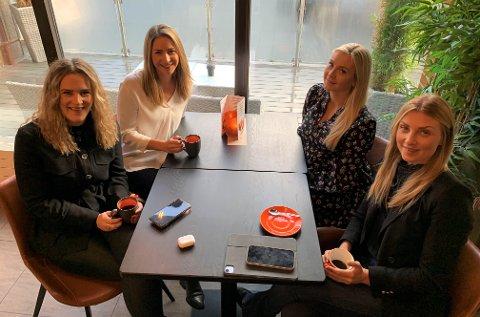 ENGASJERTE: Ingrid Reisjø, Camilla Laastad, Malin Betten Hansen og Benedikte Stensrød.